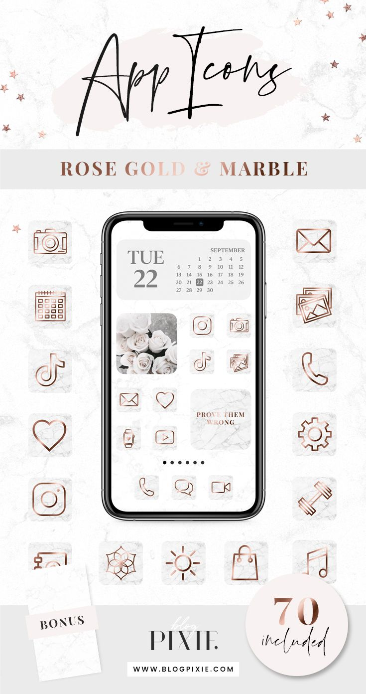 App Icon Aesthetic Rose Gold App Icons Rose Gold Home Screen Design Phone App Icons Cute App Icons Snapchat Facebook App Icon App Covers Gold App