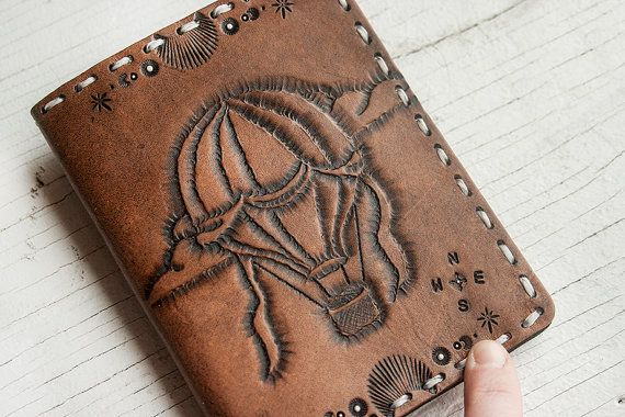 Leather Passport Cover  Custom and hand tooled by MesaDreams, $95.00