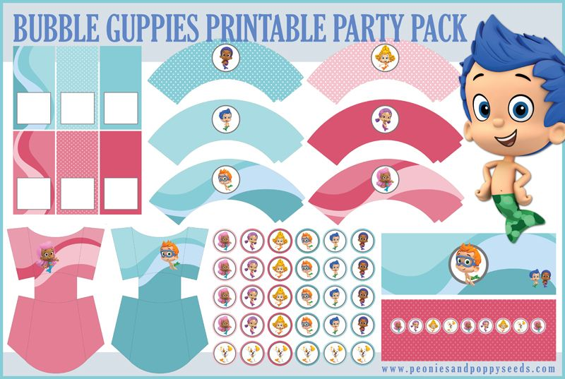 17 Best images about Bubble Guppies – Free Printable Bubble Guppies Birthday Invitations