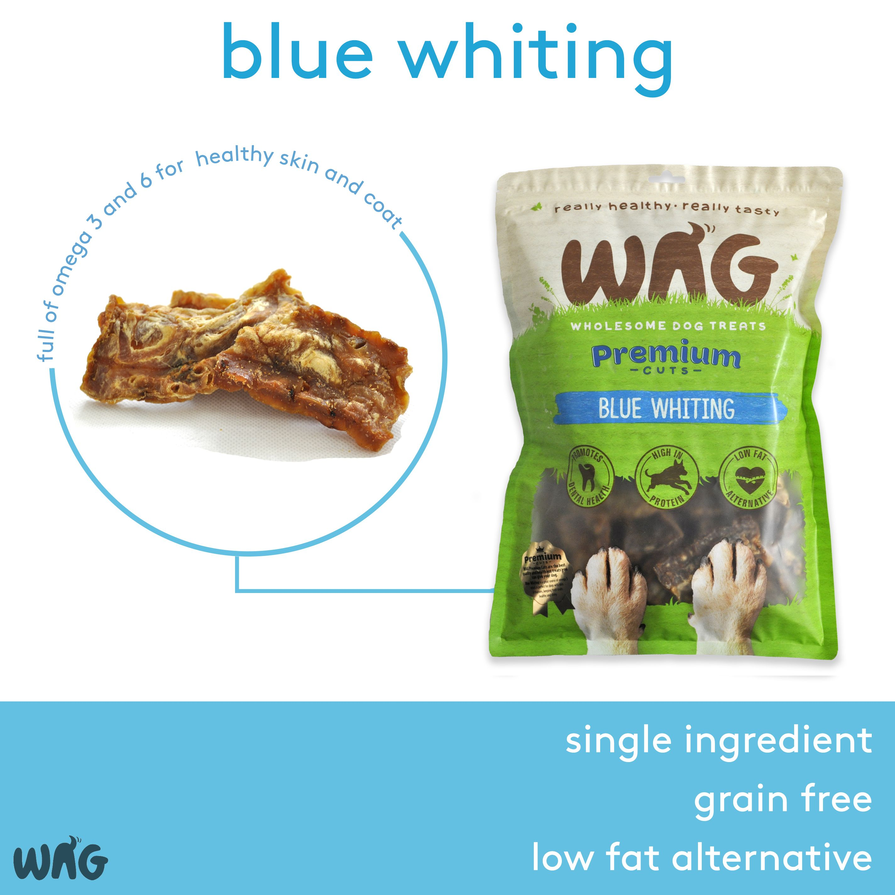 Wag Blue Whiting Grain Free Hypoallergenic Natural Australian Made Dog Treat Chew Healthy Fish Sea Natural Dog Treats Healthy Natural Dog Treats Healthy Fish