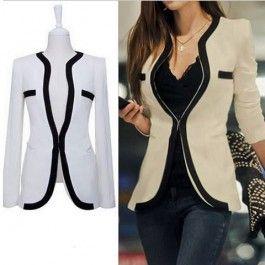 Korean Style Slim Split Joint Coat $26.99