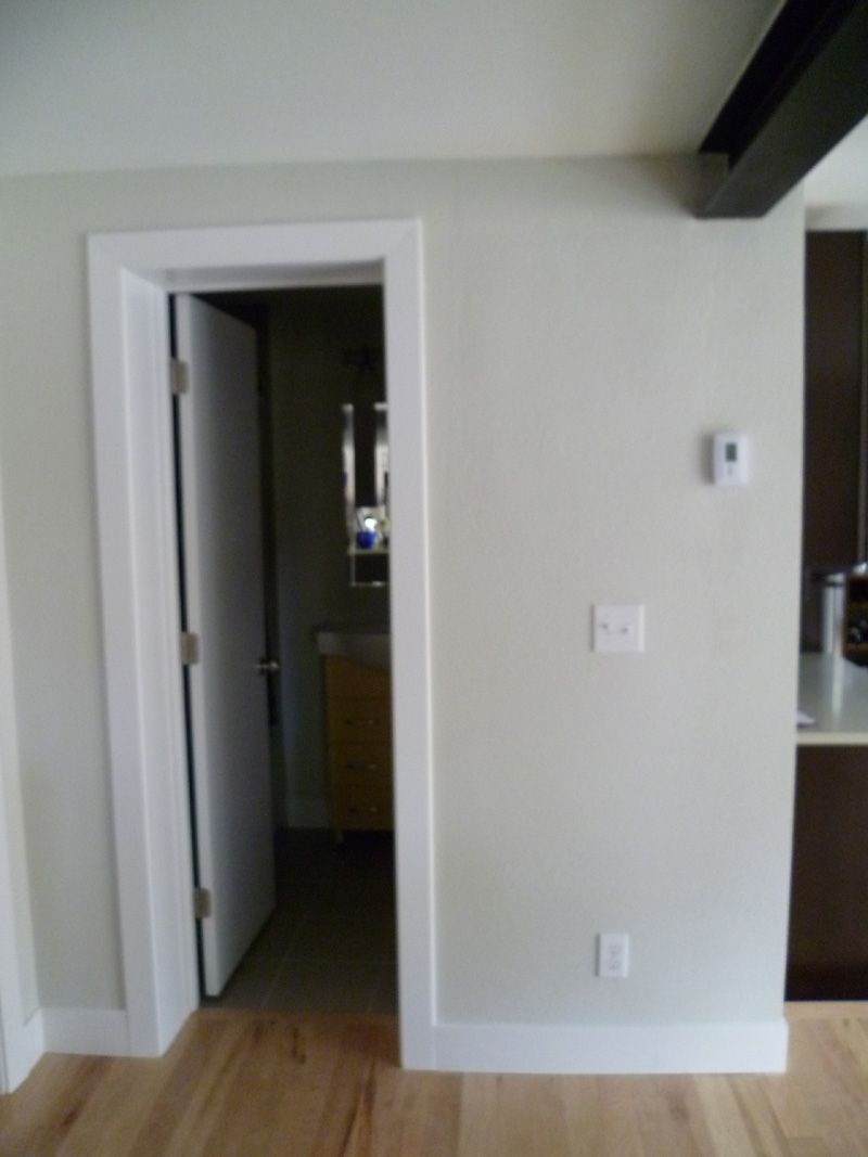 Modern, flat casing: door trim and baseboards   I guess we ...