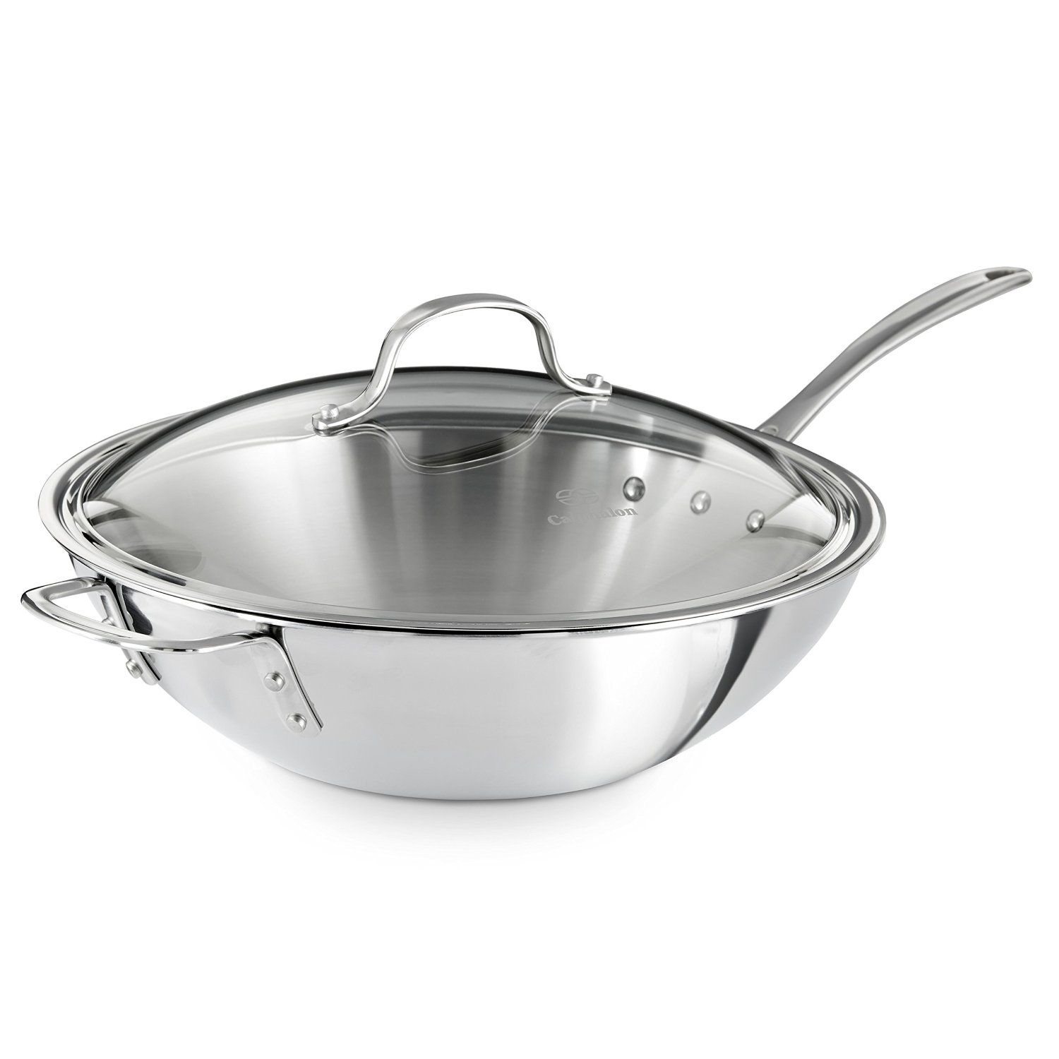 Cookware gt see more select by calphalon ceramic nonstick 8 inch an - Calphalon Triply Stainless Steel 12 Inch Wok Stir Fry Pan With Cover