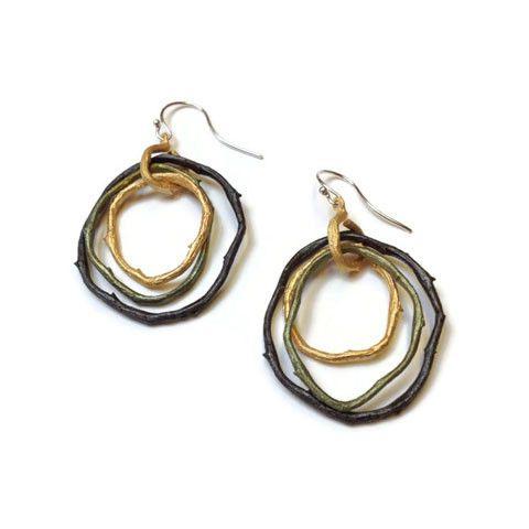 Silver Seasons - Michael Michaud - Driftwood Tripple Hoop Earrings | SattvaGallery.com