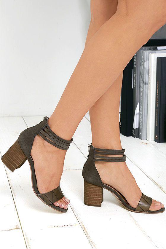 9822eca4cc Chinese Laundry Rylan Smoke Grey Suede Leather Heels