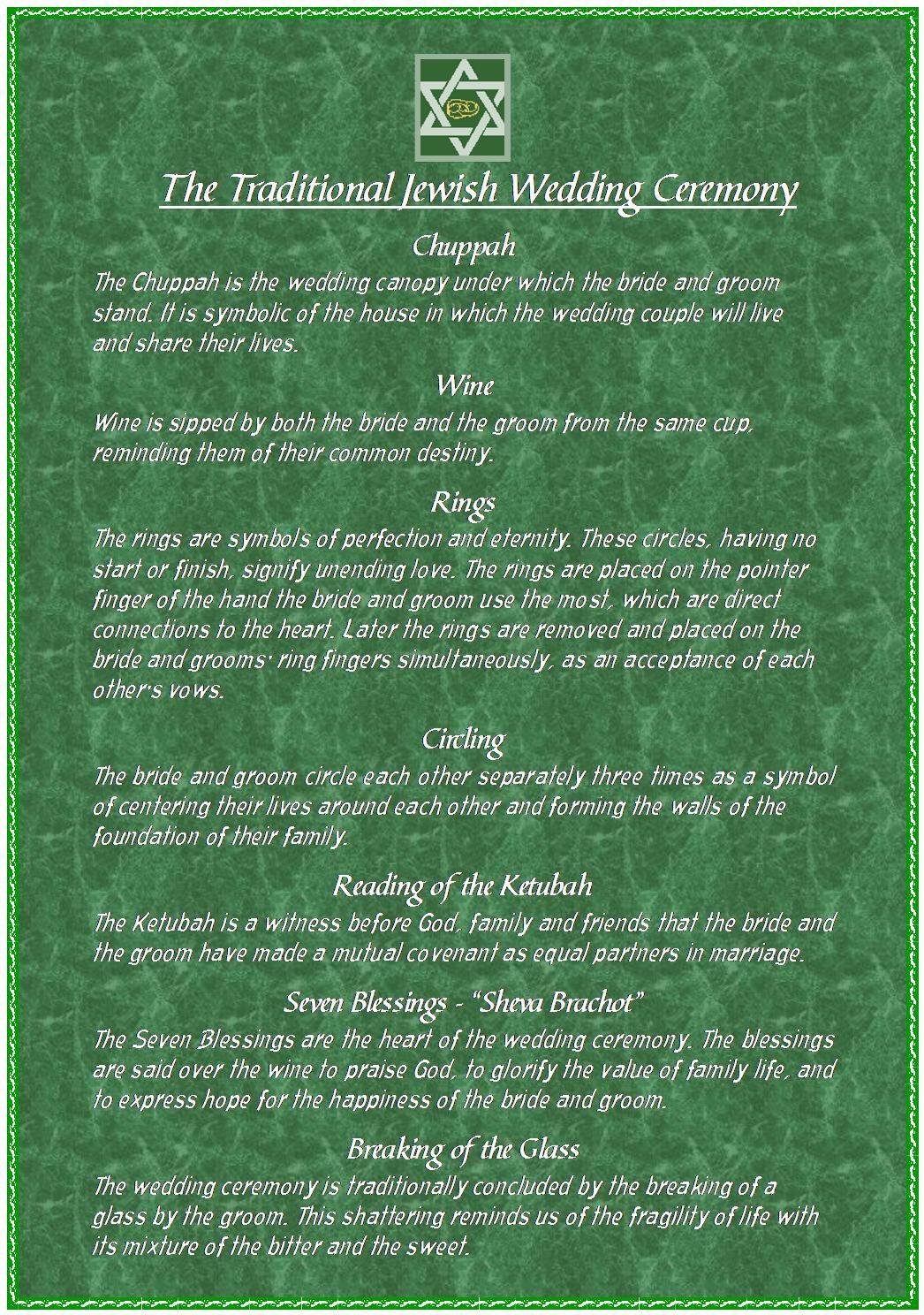 Helpful Jewish Wedding Information All Except The Circling Only Bride Walks Around 7