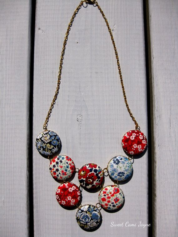 Liberty of London Statement Necklace Bib by SweetCamiJayne on Etsy