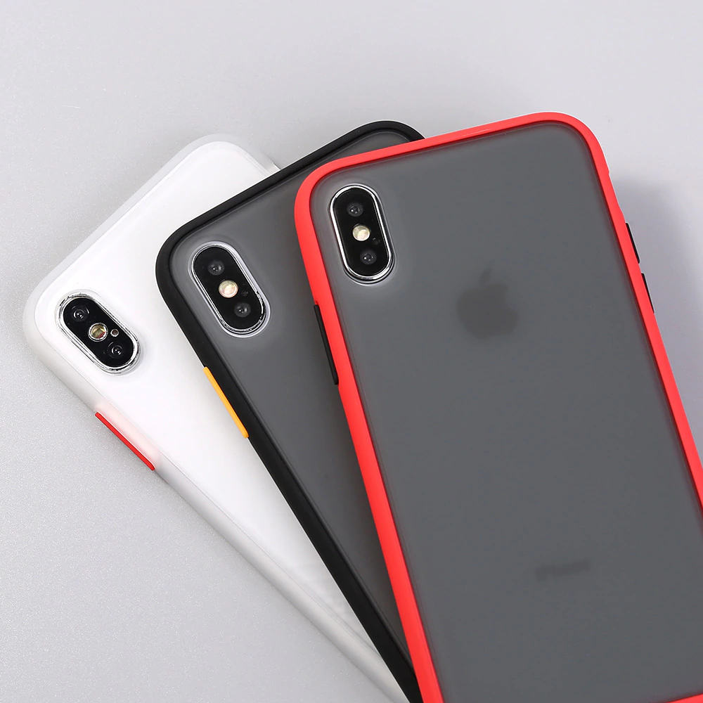 Silicone Frame Phone Case For Iphone 11 Xr Xs Max Transparent Protection Iphone Iphone Cases Transparent Phone Case