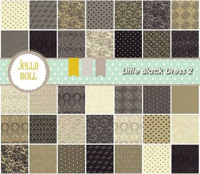 Little Black Dress 2 Jelly Roll Basic Grey 30350jr Fabric