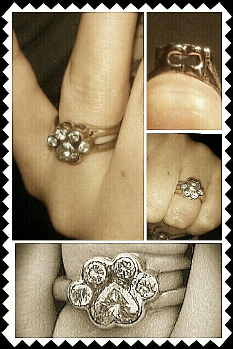 My Engagement Ring! Homemade. Paw Print. 1 Heart + 4 Round ...