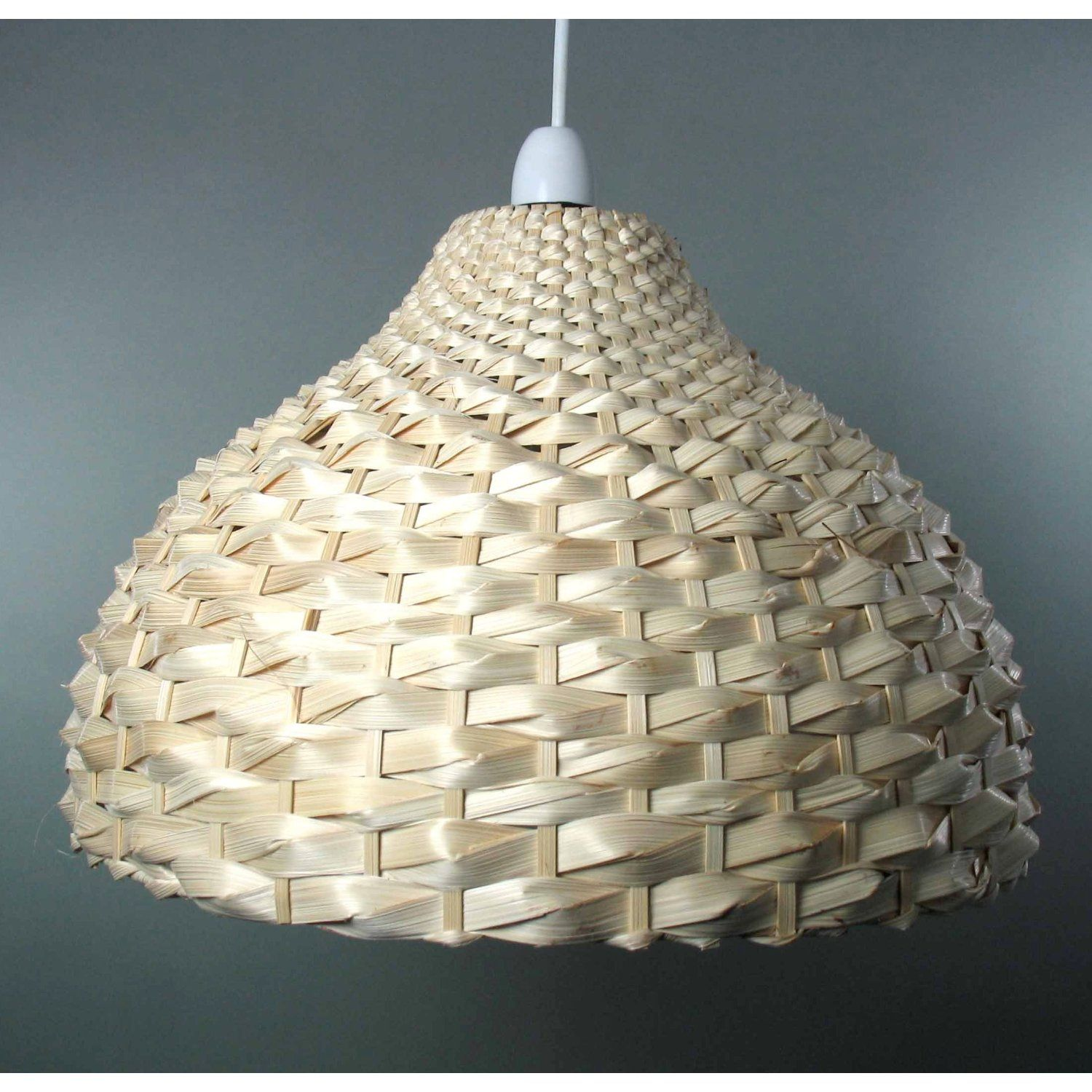 Natural bamboo weave dome shaped ceiling light shade easy fit natural bamboo weave dome shaped ceiling light shade easy fit pendant amazon mozeypictures Choice Image