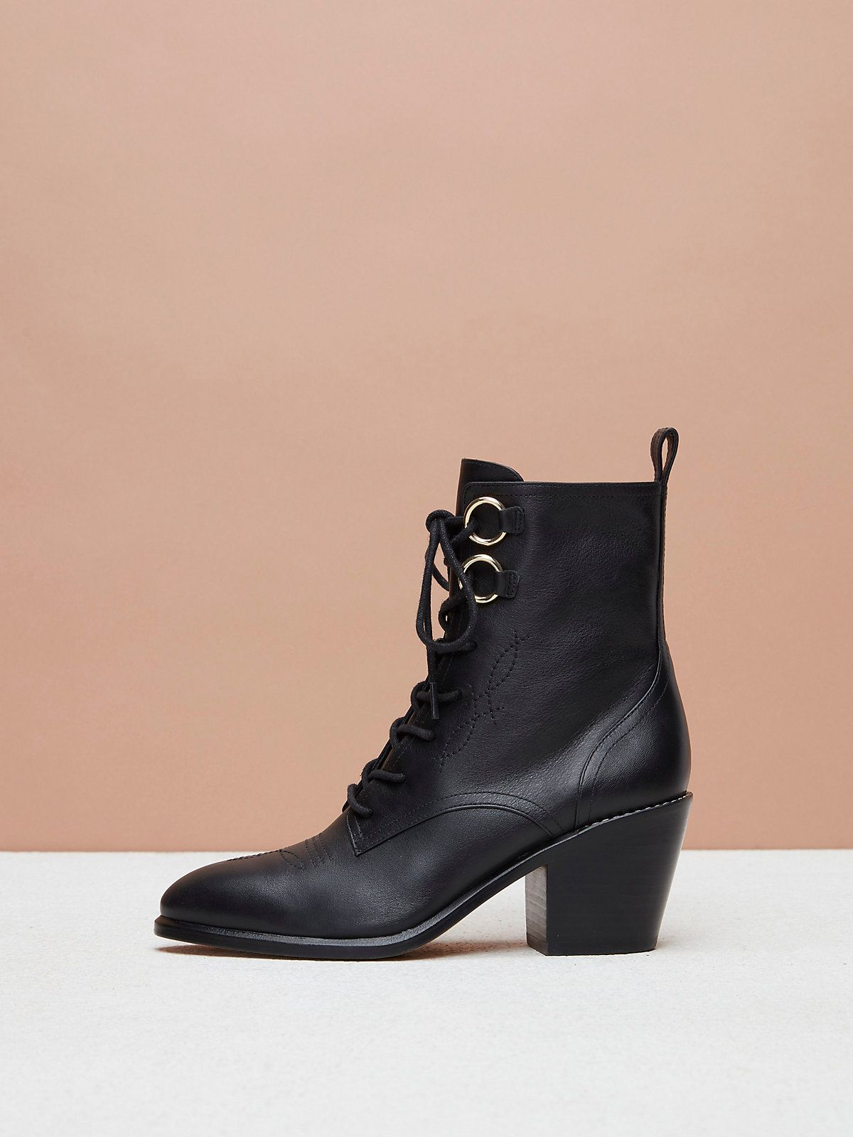 13deacb2f0 Dakota Lace-Up Boots in 2019 | Shoes | Boots, Lace up boots, Black ...