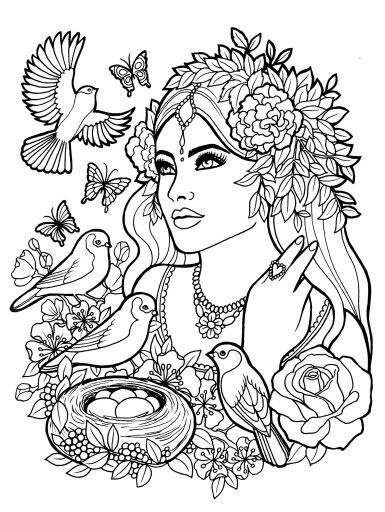 Fantasy Myth Mythical Mystical Legend Elf Elves Coloring Pages Colouring Adult Detailed Advanced Printable Kleuren Voor