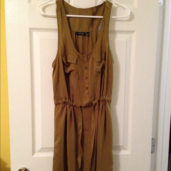 Army green dress Never worn! Ties around the waist. Apt. 9 Dresses