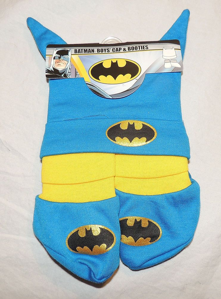 72d94fb7c7a NEW Batman Baby Hat   Booties