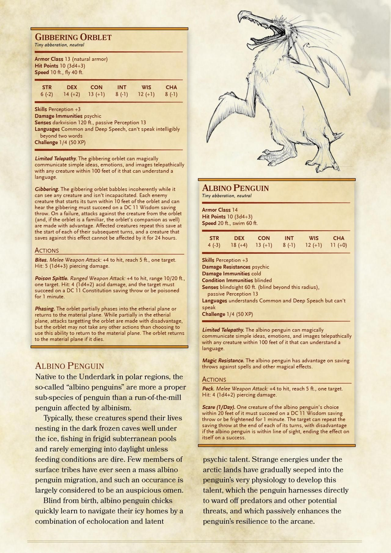 DnD 5e Homebrew — Great Old One Pact Familiars by