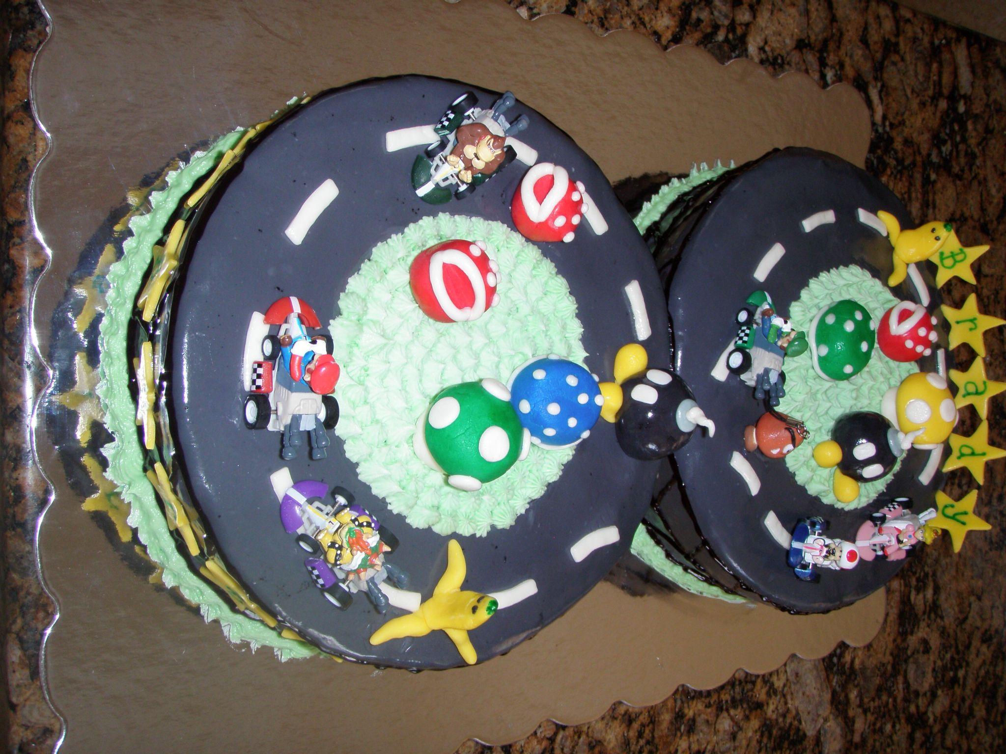 Mario Cart Racetrack Cake