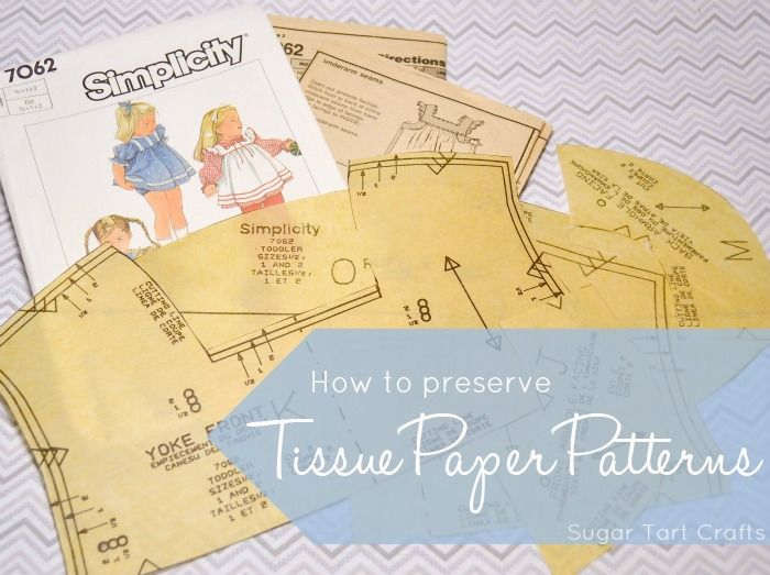 Tip Of The Week How To Preserve Commercial Tissue Paper Sewing