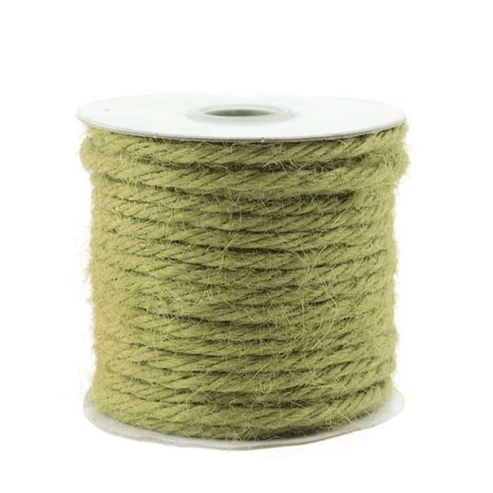 Jute Twine Cord Rope Ribbon, 1/8-inch, 25-yard, Moss Green
