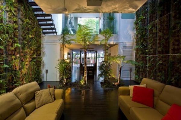 Indoor Garten indoor garten in singapoor modernes design wohnzimmer trautes heim