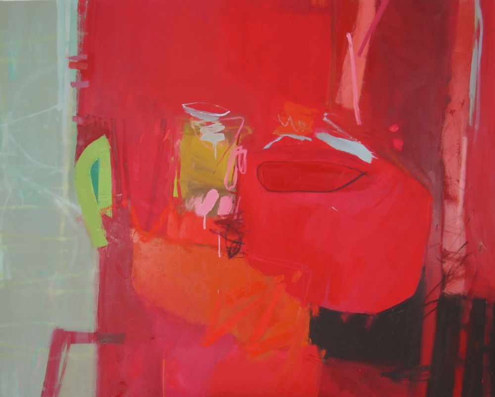 Red Revisited by Jane Lewis | Oil on canvas | 122 x 152 cm #janelewis #tannerandlawson #abstract #abstractart #norfolk #suffolk