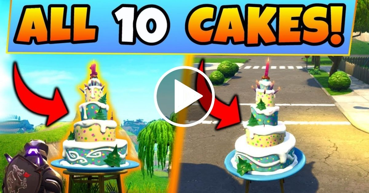 Fortnite BIRTHDAY CAKE LOCATIONS/CHALLENGES GUIDE! Dance