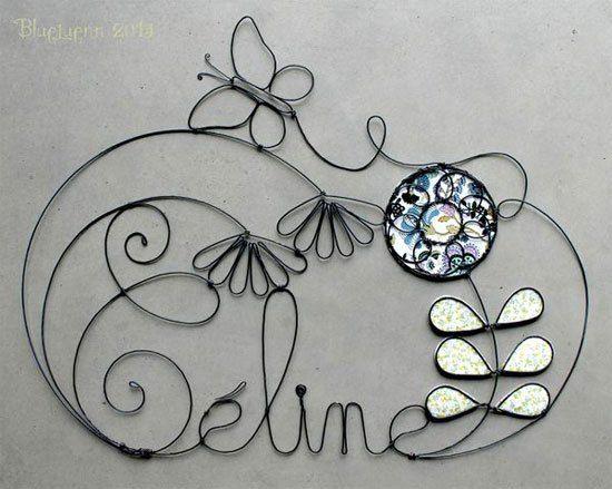 decorar con nombres de alambre Archivos - Decora Decora | Artesanías ...
