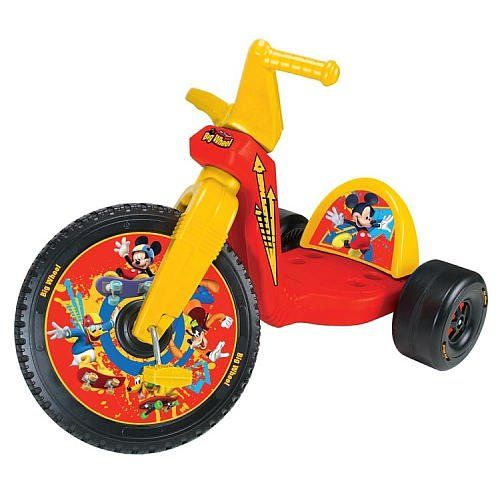 Kids Balance Bikes Mickey Mouse 16 Inch Big Wheel Racer For