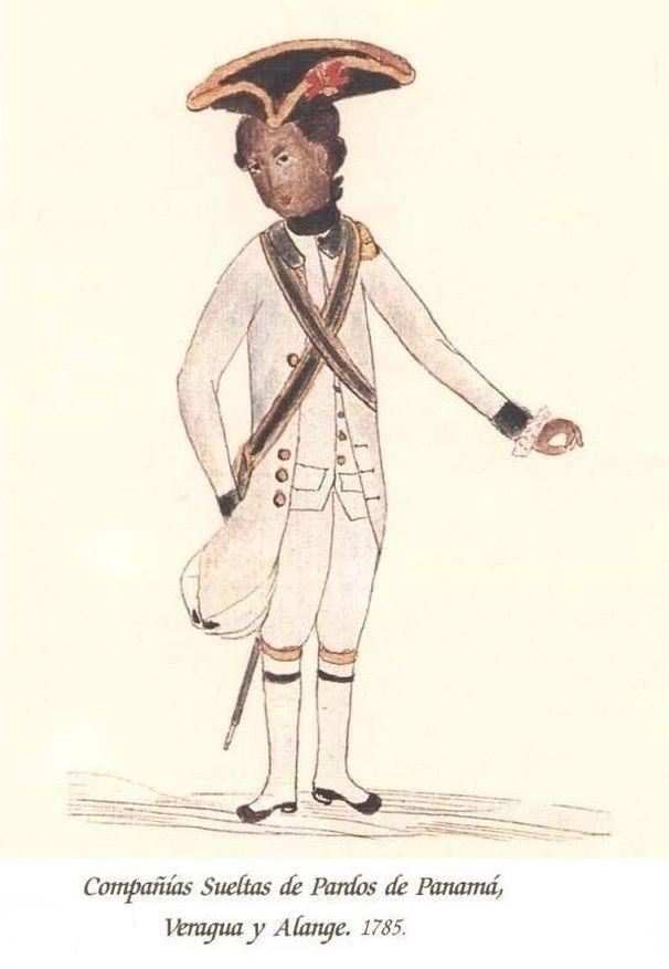 Cia. Suelta de Milicias de Pardos de Panamá, Varagua y Alange 1785