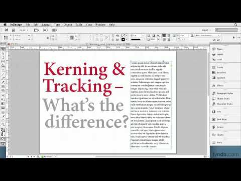 InDesign tutorial: Defining kerning and tracking | lynda.com ...