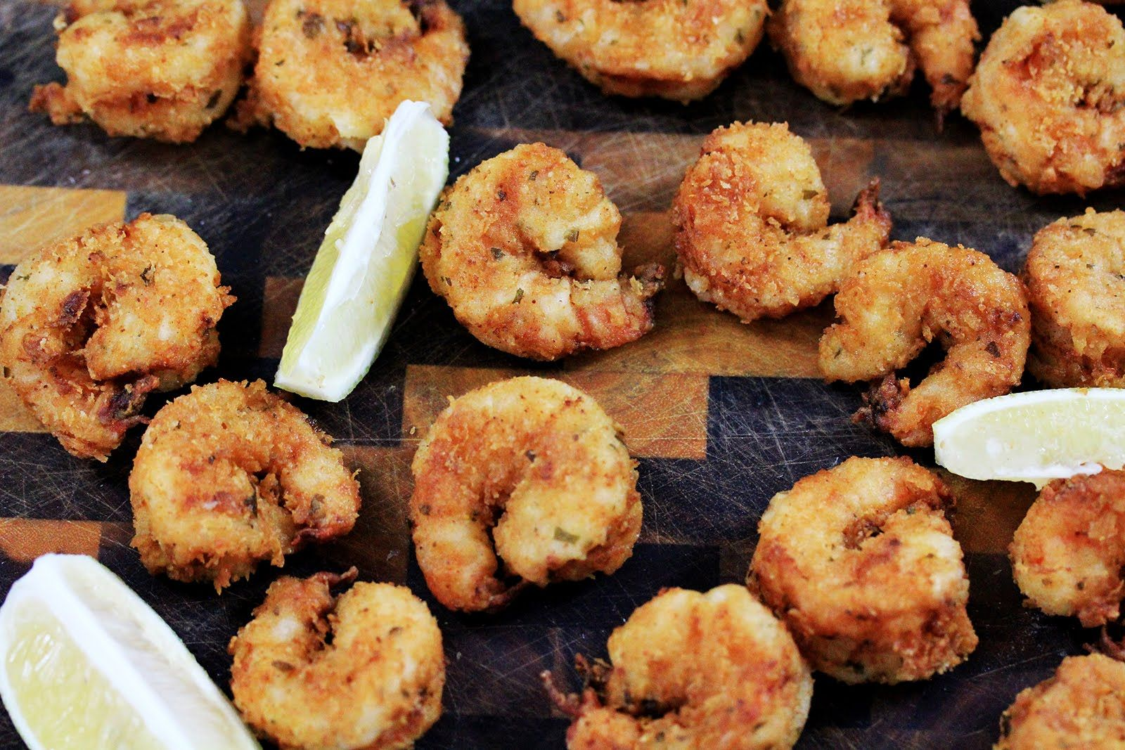 Lemony Buttermilk Fried Tiger Shrimp Recipes Food Experiments Fish Recipes