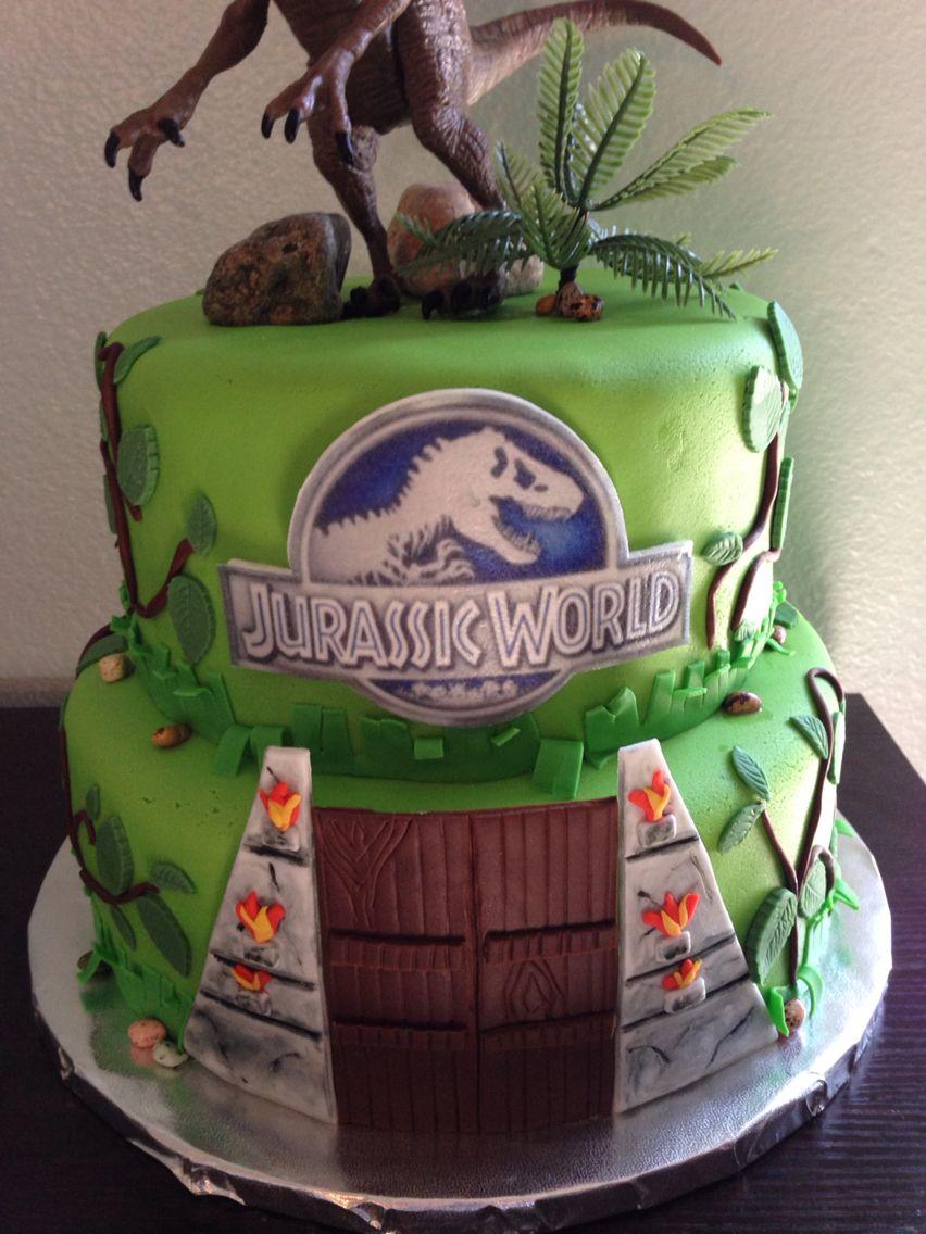 Jurassic World Cake With Images Jurassic Park Birthday