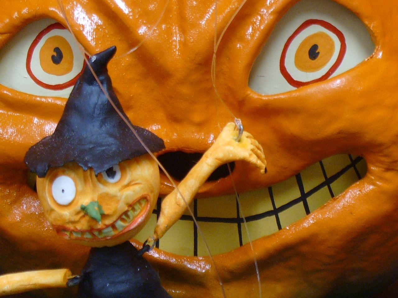 paper mache pumpkin guy