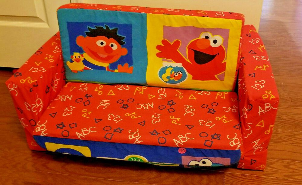 Groovy Sesame Street Elmo Friends Flip Open Sofa Pull Out To Be Home Interior And Landscaping Ologienasavecom