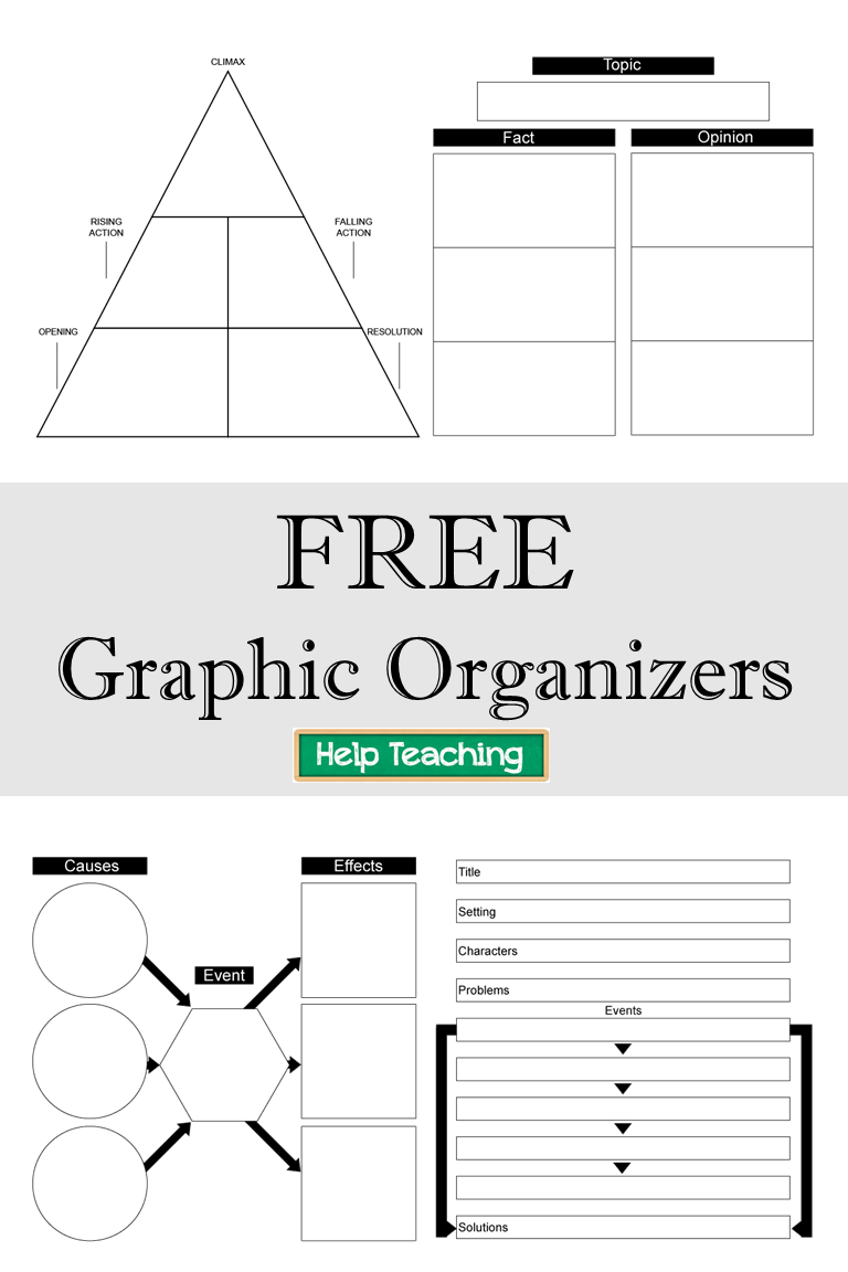 Free Printable Graphic Organizers Check Out Our Collection Of Free Graphic Org Writing Graphic Organizers Graphic Organizers Comprehension Graphic Organizers [ 1152 x 768 Pixel ]