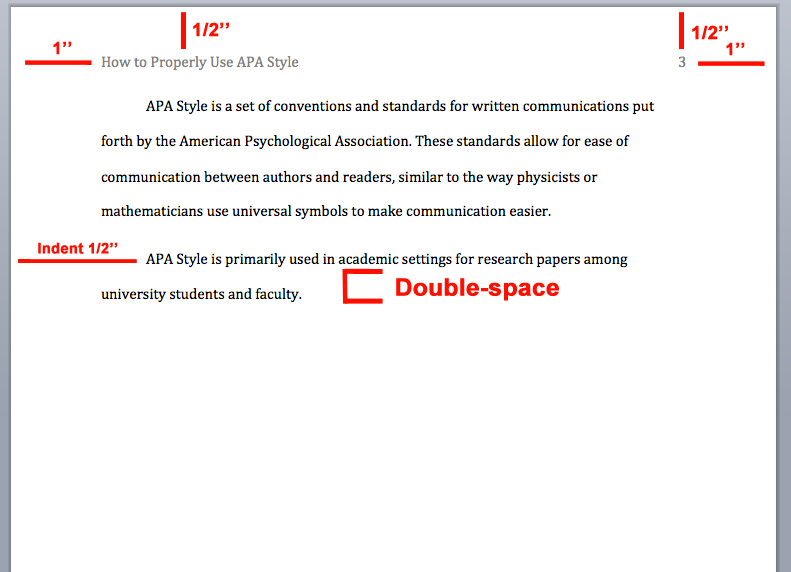 Apa Format Example With Page Number