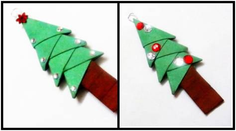 Origami Christmas Tree With Good Instructions Origami Pinterest