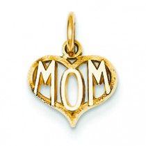 14K Gold Mom Charm