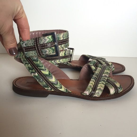 Clearance Nicekicks Missoni Woman Leather And Crochet-knit Sandals Size 38 Big Sale Enjoy Shopping Looking For Online W7Rz2s