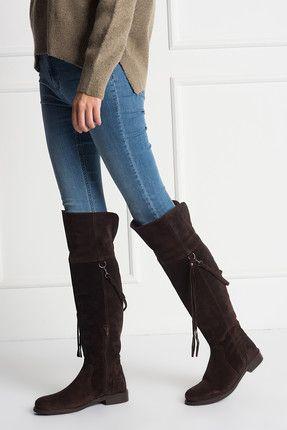 Hotic Hakiki Deri Kahve Kadin Cizme Hakiki Deri Kahve Kadin Cizme Hotic Kadin Http Www 1001stil Com Ur Boots Fashion Over Knee Boot