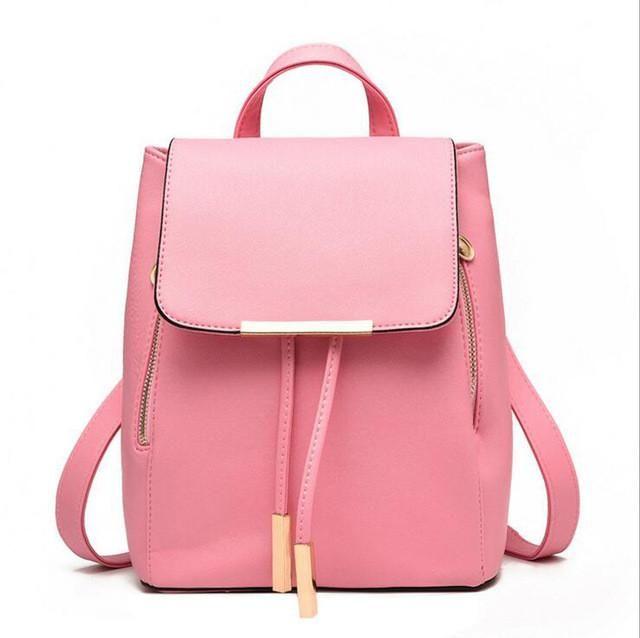 PU Leather Mochila Escolar School Backpack