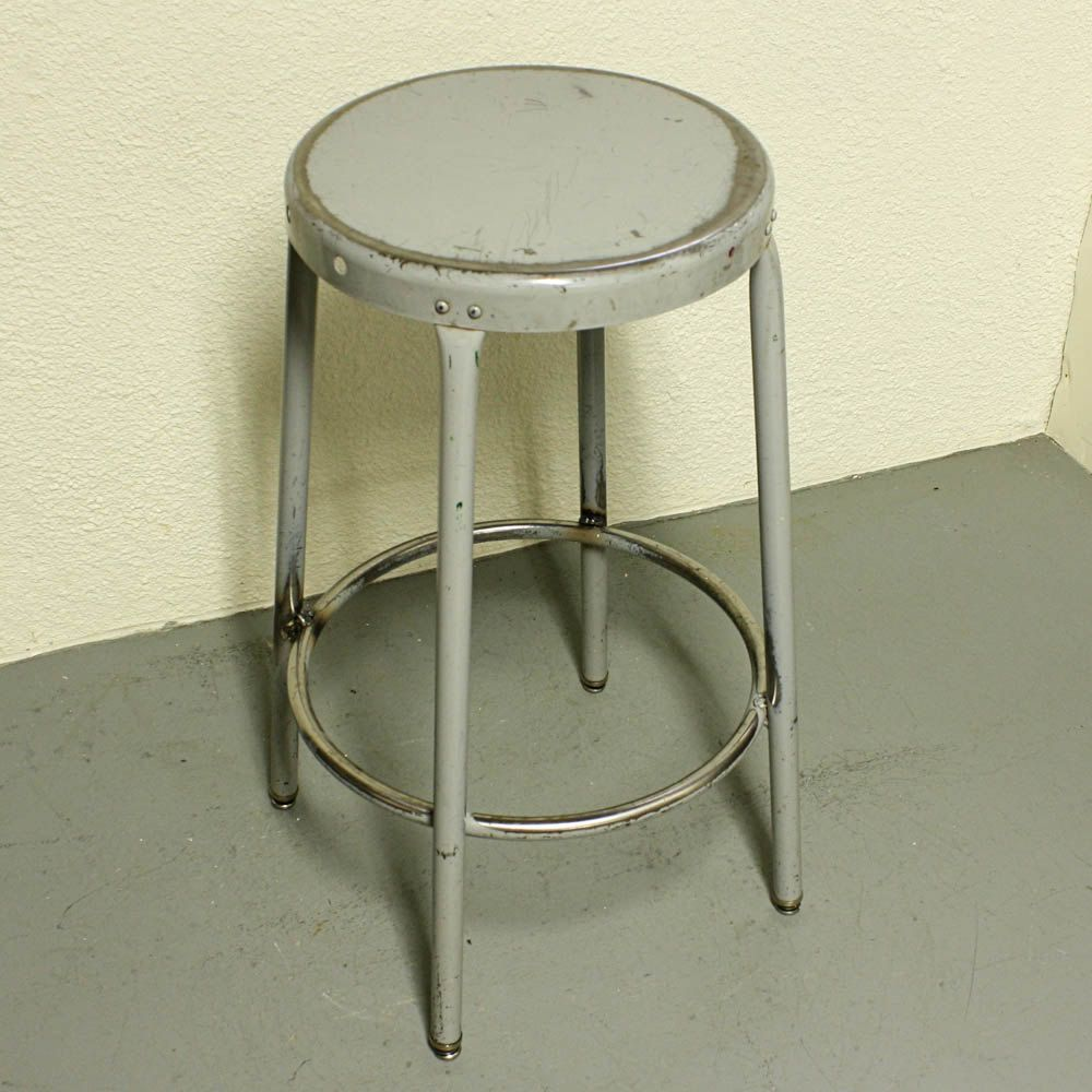 Fabulous Antique Metal Stools Vintage Metal Stool Shop Stool Lamtechconsult Wood Chair Design Ideas Lamtechconsultcom