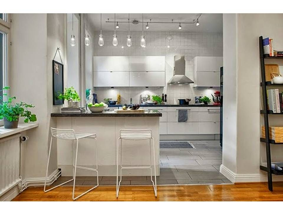 Modelos de cocinas americanas en espacios peque os for Soluciones apartamentos pequenos