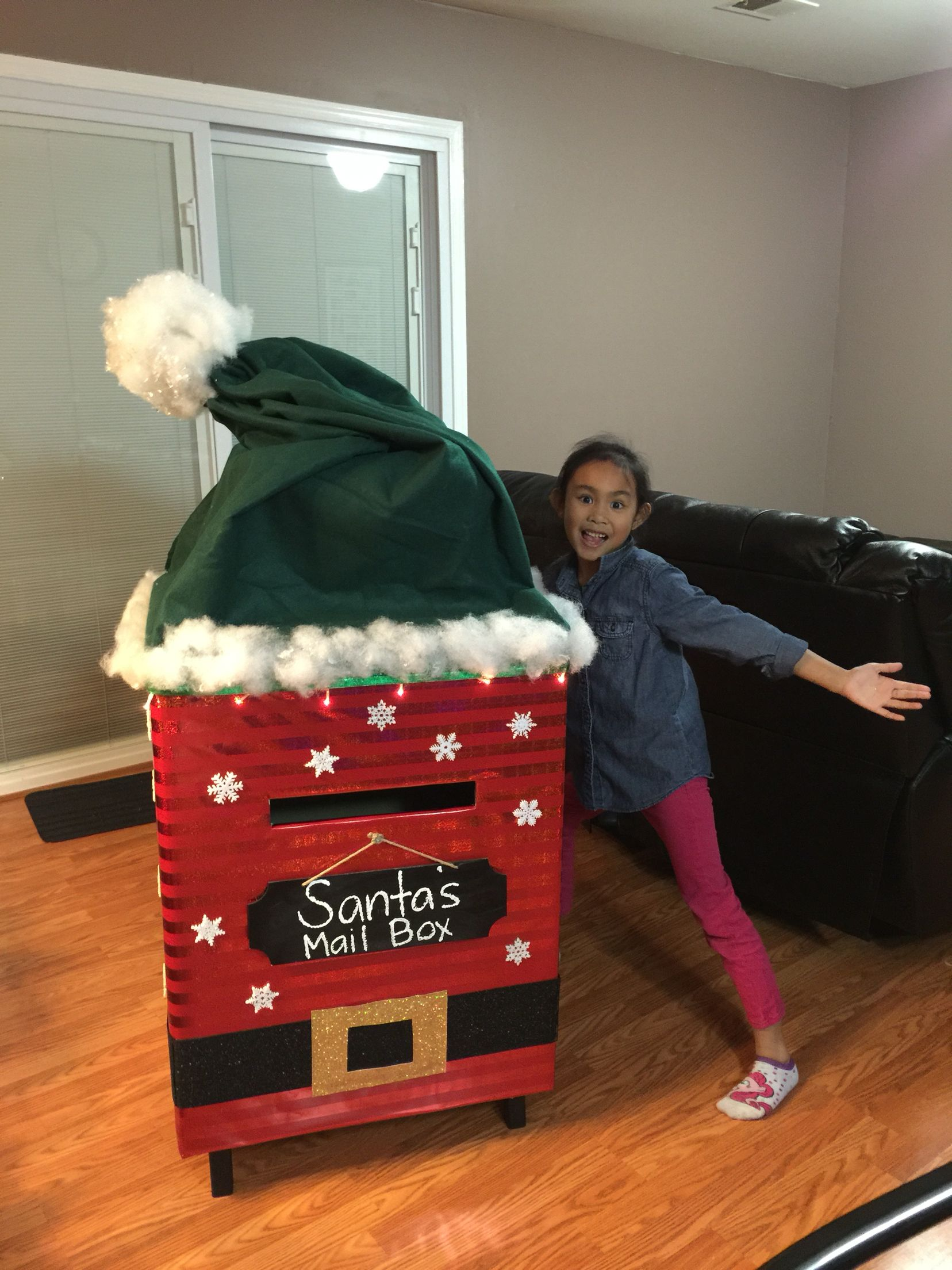 Santa's Mail Box made of cardboard Santa mail, Diy