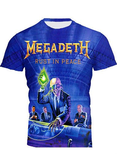 MEGADETH  RUST IN PEACE ALL OVER PRINTED T-shirt  SZ ALL #Unbranded #GraphicTee