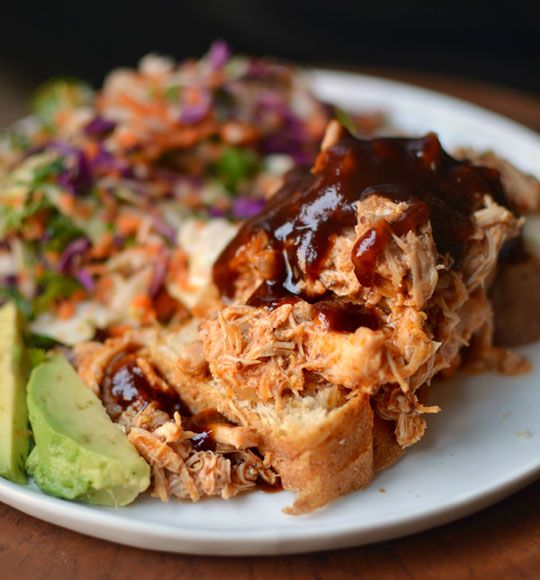 Barbecue Shredded Chicken From The Oven Or Slow Cooker