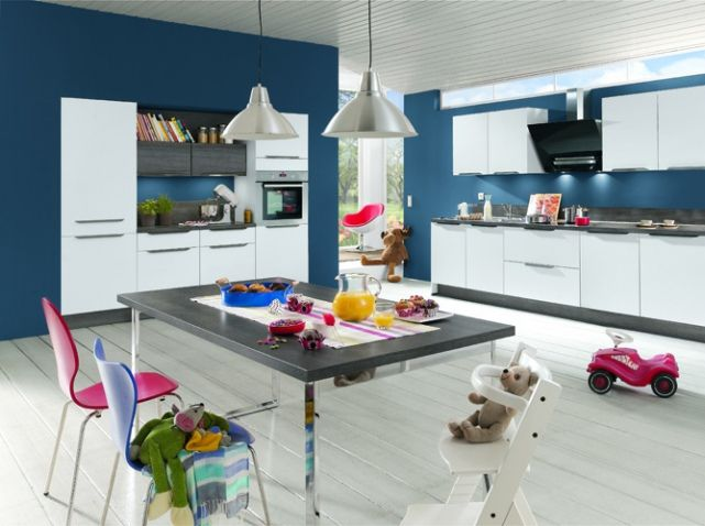 mur cuisine bleu projet cuisine pinterest mur bleu. Black Bedroom Furniture Sets. Home Design Ideas