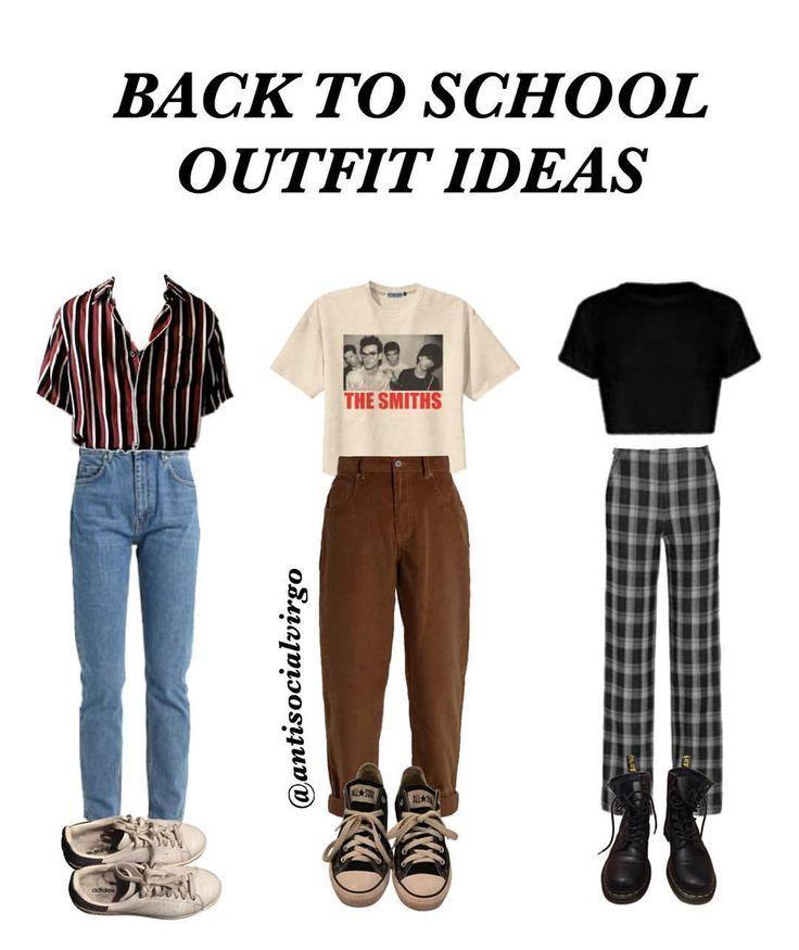 Hier sind einige Outfit-Ideen für den Schulanfang, die der Kleiderordnung entsprechen und … – 90s Fashion - Water #backtoschool