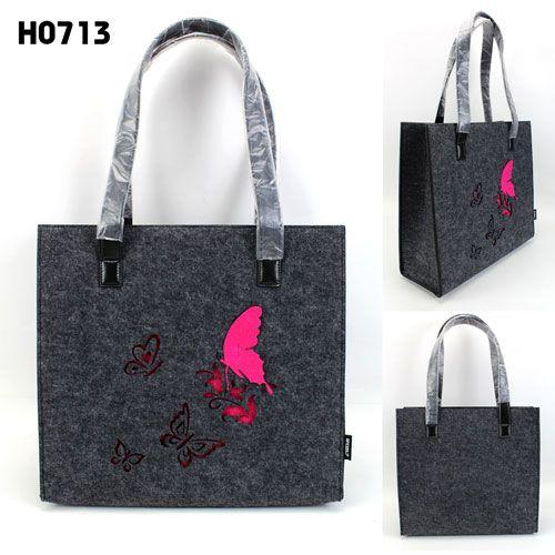 Brand New Hot Sale Hollow-out Felt Bag women felt Handbags Fashion ...