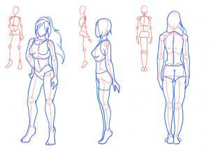 How To Draw Female Figures Female Figures Step 2 Drawing People Figure Drawing Female Figure Drawing